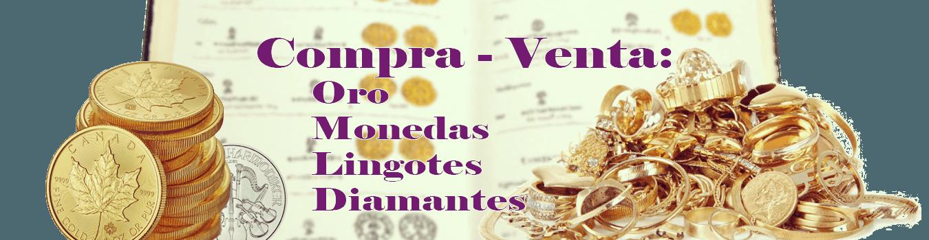Compra -  Venta de oro, monedas, lingotes y diamantes
