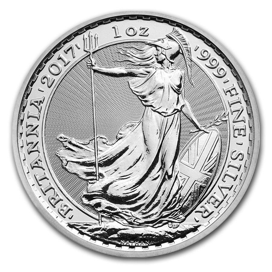 Moneda De Plata Britannia 2017 1 Oz