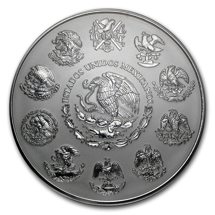 Moneda De Plata Calendario Azteca 2015 M 233 Xico