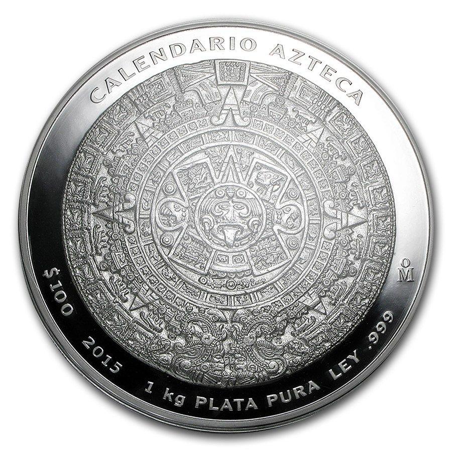 e9bca626130 Moneda de Plata Calendario Azteca 2015 México - Andorrano Joyería