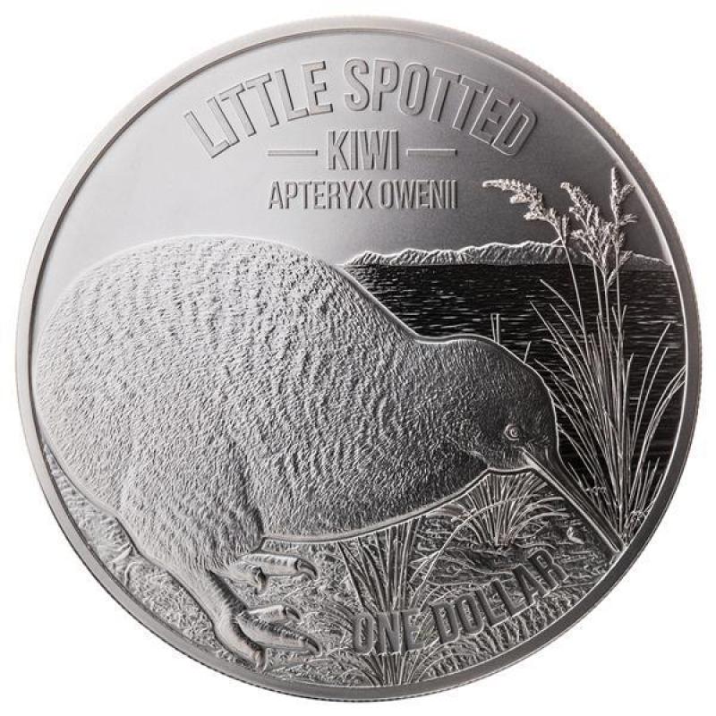 Moneda De Plata Kiwi De Nueva Zelanda 2018 1 Oz
