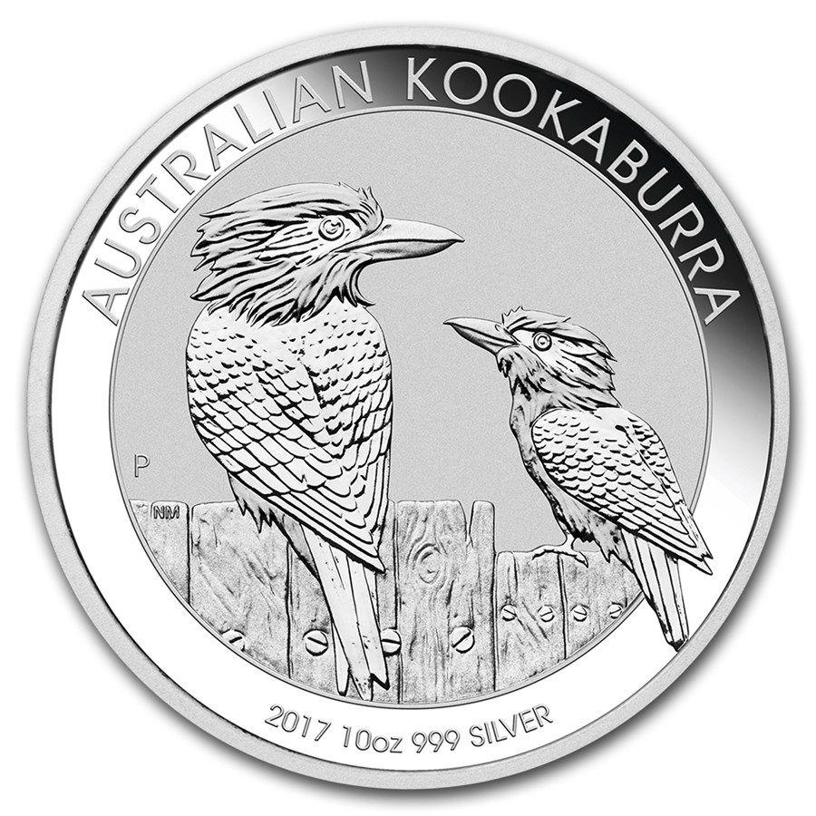 Moneda De Plata Kookaburra 2017 10 Oz
