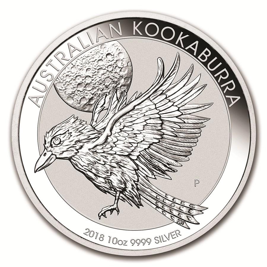 Moneda De Plata Kookaburra 2018 10 Oz
