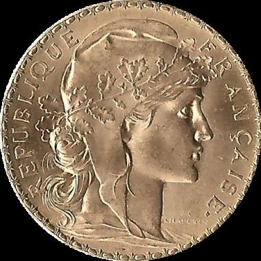 Moneda de Oro 20 Francos