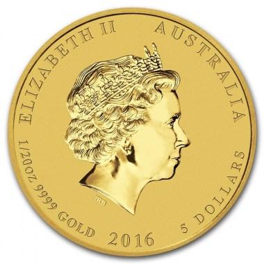 Moneda Año Lunar del Mono 2016 Oro