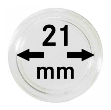 Cápsulas Lindner para monedas de 21mm