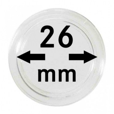 Cápsulas Lindner para monedas de 26mm