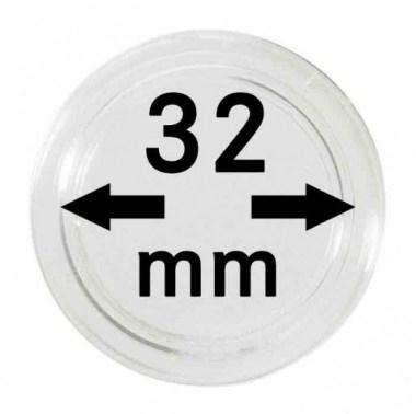 Cápsulas Lindner para monedas de 32mm