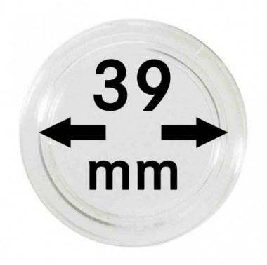 Cápsulas Lindner para monedas de 39mm
