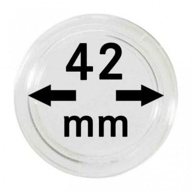 Cápsulas Lindner para monedas de 42mm