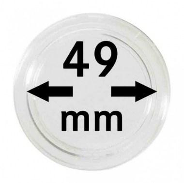 Cápsulas Lindner para monedas de 49mm
