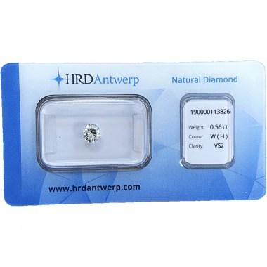 Diamante HRD certificado 0,56ct H VS2