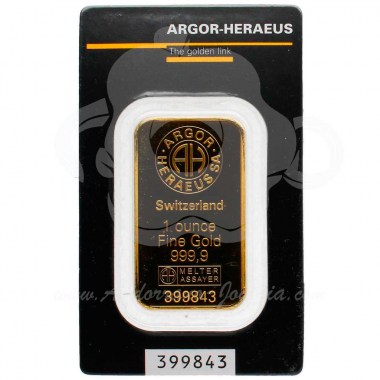 Lingote oro 1Oz gramos puro 999