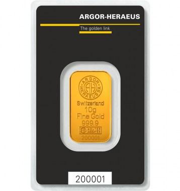 Lingote de Oro Argor-Heraeus Classic de 10g