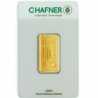 Lingote de Oro C Hafner de 10g