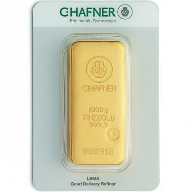 Lingote de Oro C Hafner de 1kg