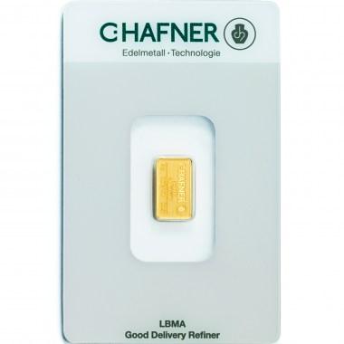 Lingote de Oro C Hafner de 2g