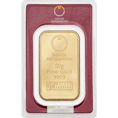 Lingote de Oro Münze Österreich de 50g