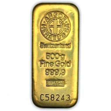 Lingote oro 500 gramos puro 999