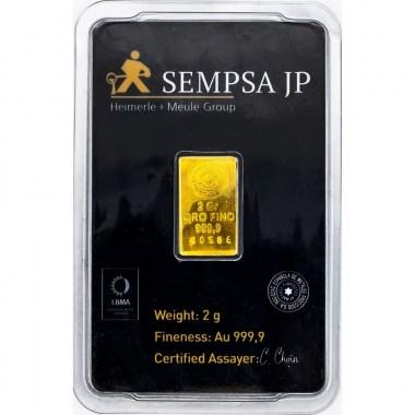 Lingote de Oro SEMPSA de 2g