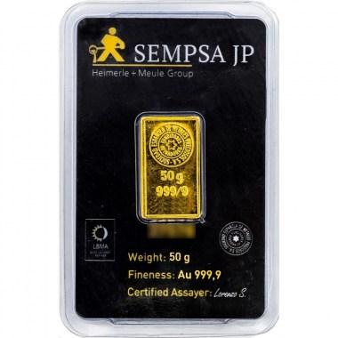 Lingote de Oro SEMPSA de 50g