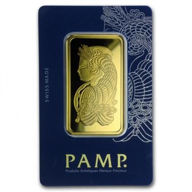 Lingote de Oro PAMP Fortune de 50g blister