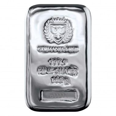 Lingote de Plata Germania Mint de 100g