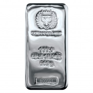 Lingote de Plata Germania Mint de 500g