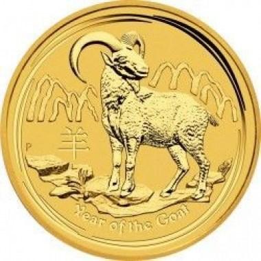 Moneda de oro Año de la Cabra 1/20 Oz 2015
