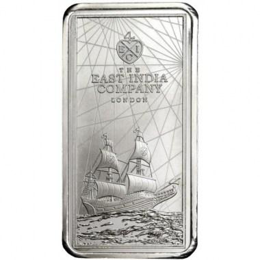Moneda-Lingote de Plata East India Company de Santa Elena 2021 250 g