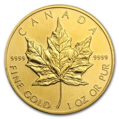 Moneda Maple Leaf Oro 1 oz