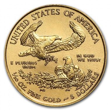 Moneda de Oro American Eagle 2021 1/10 oz