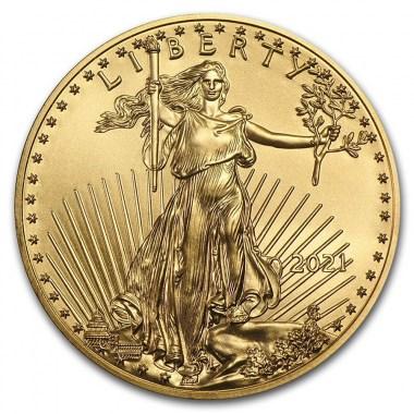 Moneda de Oro American Eagle 2021 1/4 oz