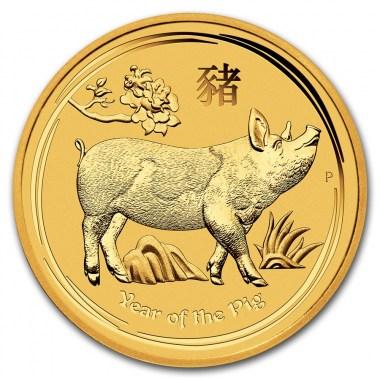 Moneda de Oro Año del Cerdo de Australia 2019