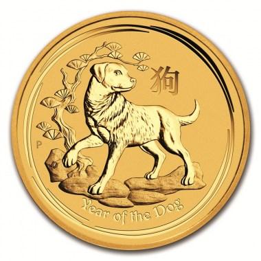 Moneda de Oro Año del Perro de Australia 2018