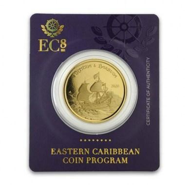 Moneda de Oro Rum Runner de Antigua y Barbuda 2020 1 oz