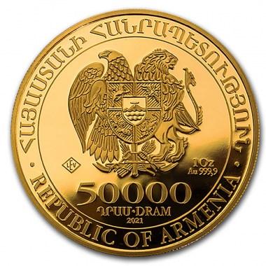 Moneda de Oro Arca de Noe 2021 1 oz