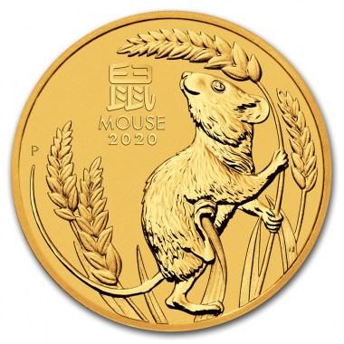 Moneda de Oro Año del Ratón de Australia 2020