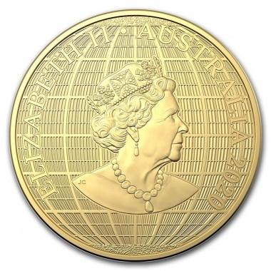 Moneda de Oro Bajo el Cielo del Sur de Australia 2020 1 oz
