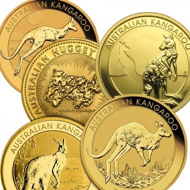 Moneda de Oro Canguro años varios