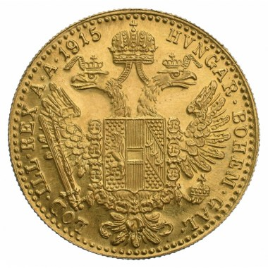 Moneda de Oro 1 Ducado de Austria 1915