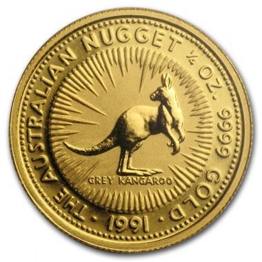 Moneda de Oro Canguro 1991 1/4 oz