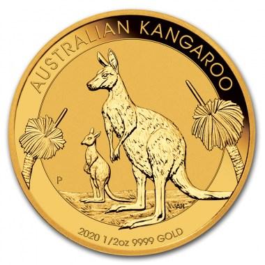 Moneda de Oro Canguro 2020 1/2 oz