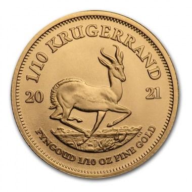 Moneda de Oro Krugerrand 2021 1/10 oz