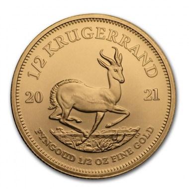 Moneda de Oro Krugerrand 2021 1/2 oz