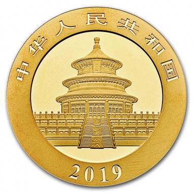 Moneda de Oro Panda de China 2019 30 g