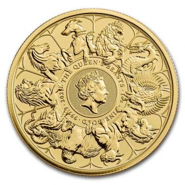 Moneda de Oro Queen's Beasts Completer 2021 1 oz