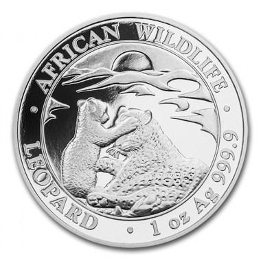 Moneda de Plata Leopardo de Somalia 2019 1 oz