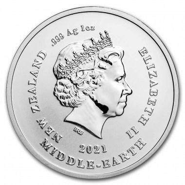 Moneda de Plata 20 aniversario de El señor de los anillos Frodo 2021 1 oz