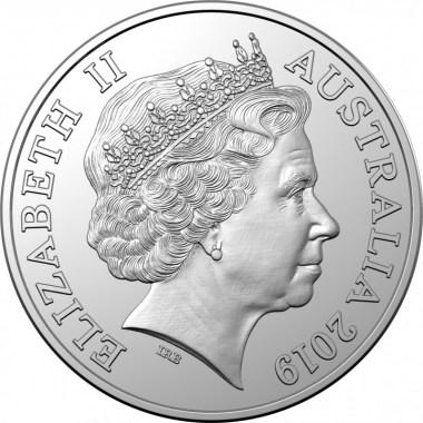 Moneda de Plata 50 aniversario del alunizaje de Royal Australian Mint 2019 1 oz